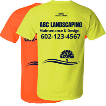 Safety green short sleeve (Tree Design) Thumbnail