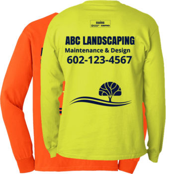 Safety green long sleeve (Tree Design) Thumbnail