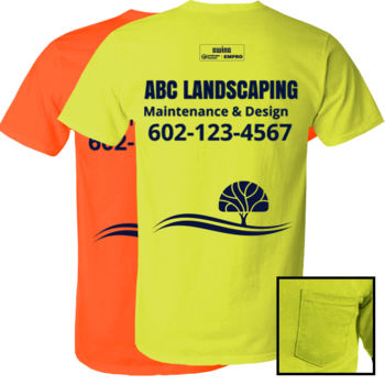 Safety green short sleeve w/ pocket (Tree Design) Thumbnail