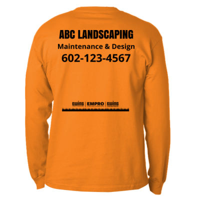 Safety orange long sleeve w/ pocket Thumbnail