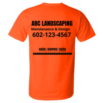 Safety orange short sleeve (Tree Design) Thumbnail