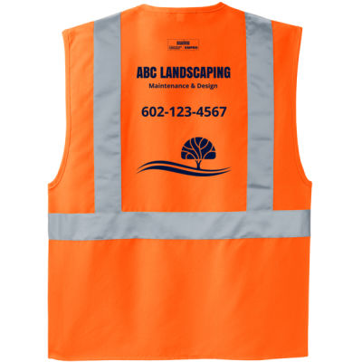 Enhanced Visibility Vest Orange Thumbnail