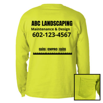 Safety green long sleeve w/ pocket (Tree Design) Thumbnail